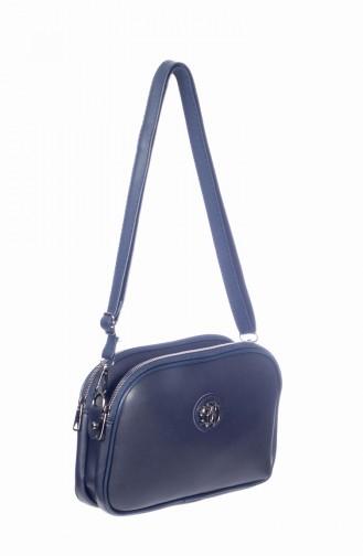 Navy Blue Shoulder Bag 3023-02