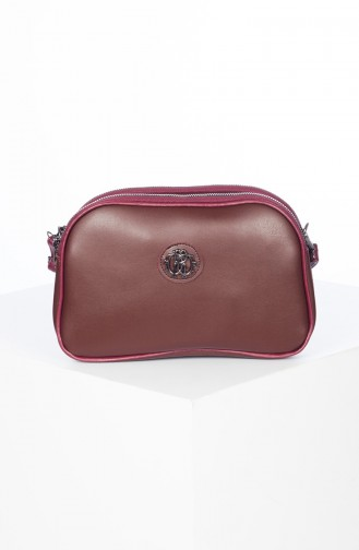 Lady Cross Shoulder Bag 3023-03 Claret Red 3023-03