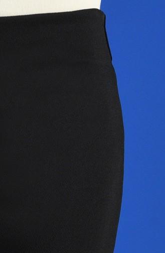 İspanyol Paça Pantolon 0048-01 Siyah