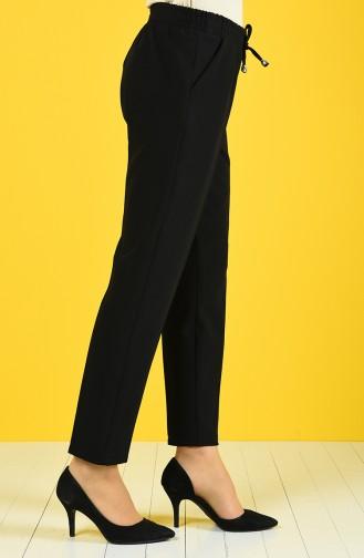 Pantalon Taille Élastique 4088-01 Noir 4088-01