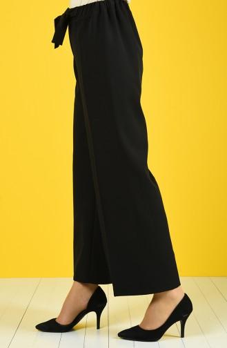 Belted Baggy Pants 4089-03 Black 4089-03