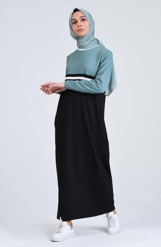 Garnili Spor Elbise 0827-02 Çağla Yeşili