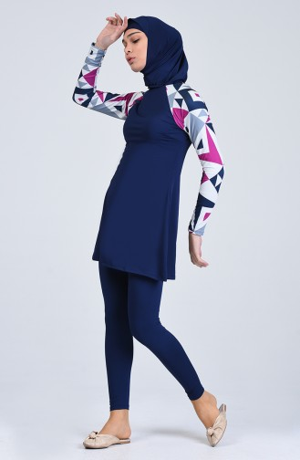 Navy Blue Swimsuit Hijab 1848-01