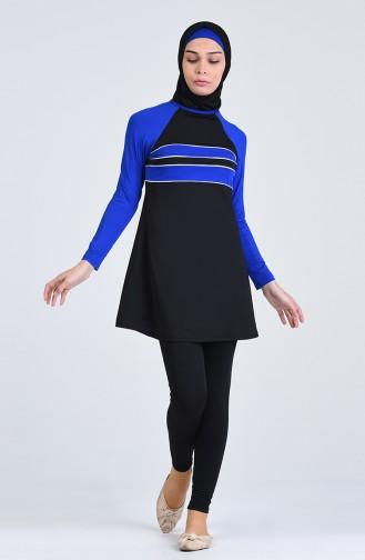 Hijab Badebekleidung 1851-01 Schwarz 1851-01