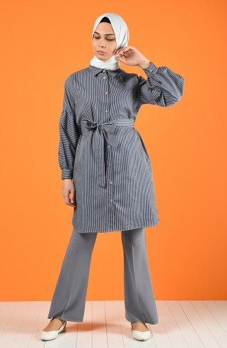 Striped Tunic with Belt 1429-01 Smoked 1429-01