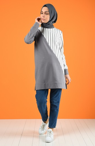 Striped Sport Tunic 0847-05 Grey 0847-05