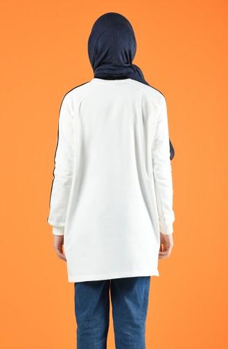 Bias Detailed Sports Tunic 0071-07 White 0071-07