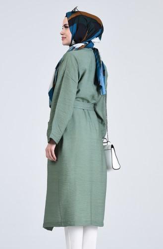 Kimono Kol Cepli Hırka 5301-03 Yeşil