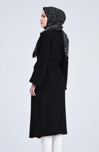 Kimono Kol Cepli Hırka 5301-05 Siyah