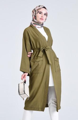 Kimono Kol Cepli Hırka 5301-06 Haki