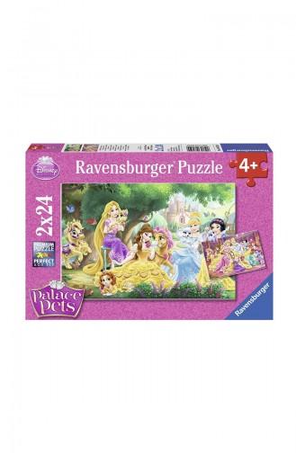 Ravensburger Çocuk 2x24 Puzzle RAV089529 Prenses