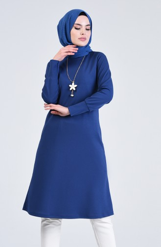 Long Tunic with Necklace 3047-06 Black 3047-08