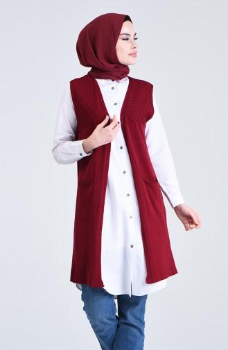 Claret red Gilet 4206-04