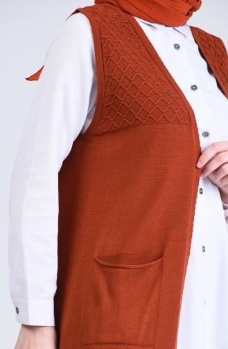 Knitwear Vest with Pockets 4206-05 Tile 4206-05