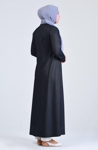 Zippered Abaya 4453-02 Black 4453-02