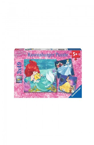 RavensBurger Çocuk 3x49 Puzzle Wd Prenses Mac RAV093502 093502