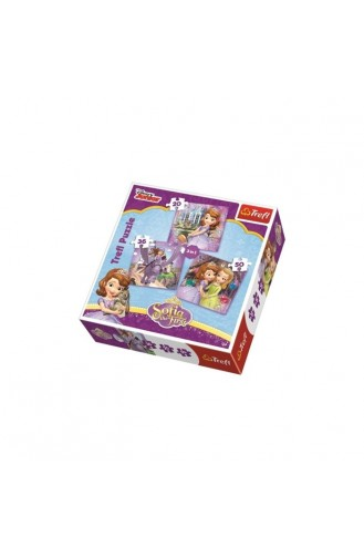 Trefl Puzzle Disney Sofia 3IN1 Her Friends TRE34814