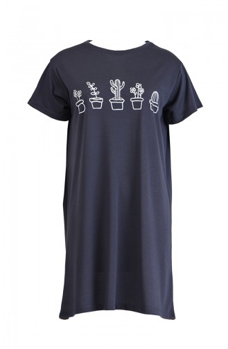 Baskılı Tshirt 8133-06 Antrasit