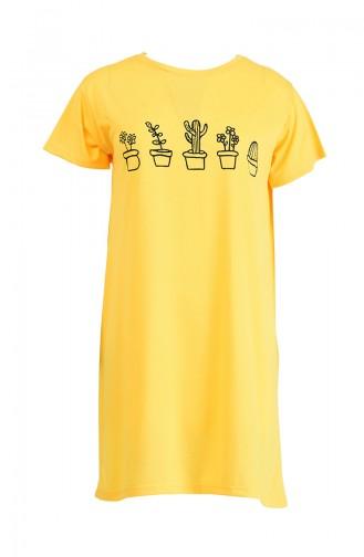 Printed Tshirt 8133-08 Yellow 8133-08