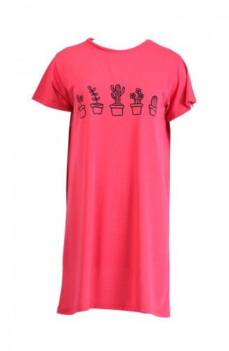 Baskılı Tshirt 8133-13 Pembe