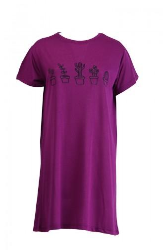 Bedrucktes Tshirt 8133-15 Zwetschge 8133-15