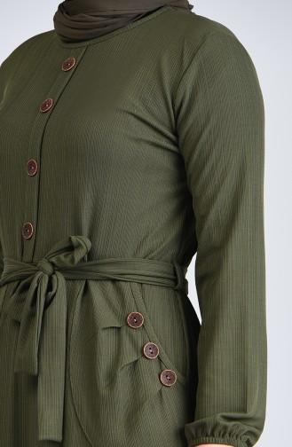 فستان كاكي 6048-02