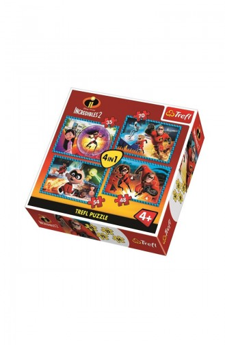 Trefl Puzzle 4 in 1 Incredible Family Disney Incredibles 2 TRE34306