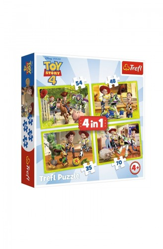 Trefl 4IN1 Puzzle Toy Story Toy Team TRE34312