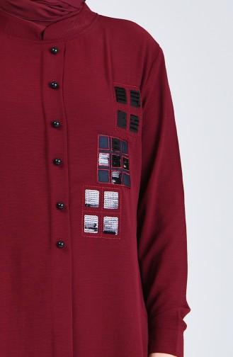 تونيك أحمر كلاريت 0225-03