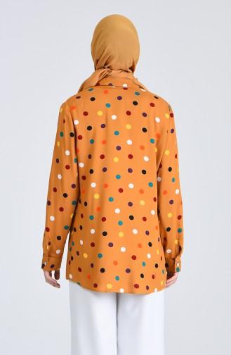 Desenli Gömlek 6000-04 Hardal