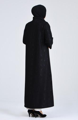 معطف فوقي أسود 0297-01