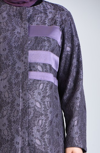 Plus Size Laced Topcoat 0297-03 Lilac 0297-03
