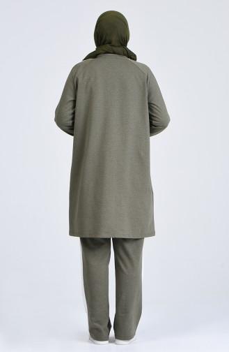 Büyük Beden Eşofman Takım 0842-02 Haki