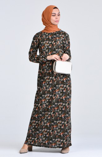 Robe Hijab Vert Foncé 8868-03