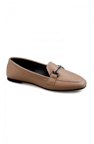 Women s Flat Shoe 0168-03 Cream 0168-03