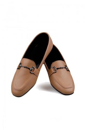 Skin color Woman Flat Shoe 0168-04