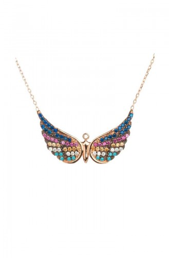 925 Sterling Silber, Speziell Damen Halskette DTM-083 Farbig 083