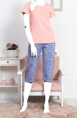 Ensemble Pyjama Capri Manches Courte Pour Femme  812072-A Robe Bébé 812072-A