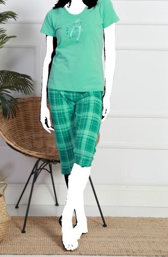 Ensemble Pyjama 812190-B Vert eau 812190-B