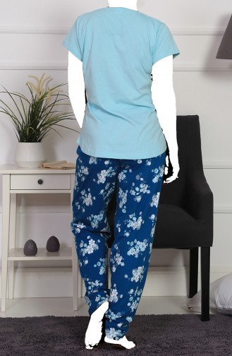 Damen Grösse Grosse Kurzarm Capri Pyjama Set 911249-B Mandelgrün 911249-B