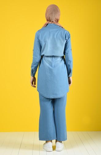 طقم أزرق جينز 3008-01