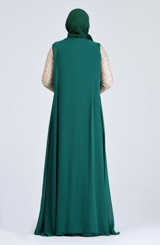 Abendkleid mit Umhang 8K48411002-03 Smaragdgrün 8K48411002-03