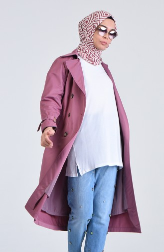 Belted Trench Coat 1056-01 Rose Dry 1056-01