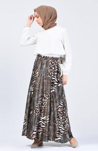 تنورة بني مائل للرمادي 2098-01