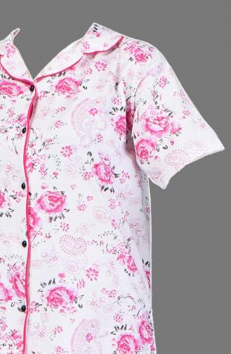 Ensemble Pyjama à Manches Courtes 1500-04 Fuchsia 1500-04