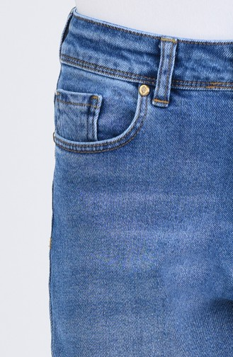 Mom Jeans Hose 9110-01 Jeans Blau 9110-01