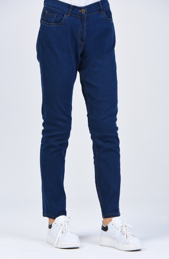 Jeans Pants with Pockets 0659b-01 Navy Blue 0659B-01