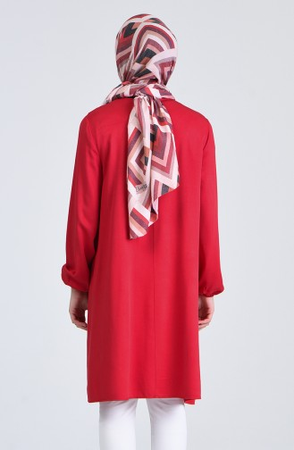 Cep Detaylı Tunik 2000-02 Kırmızı
