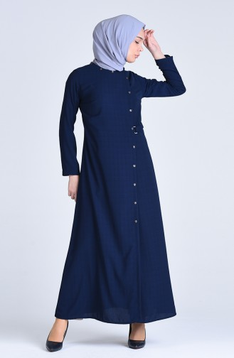 Abaya 6853-02 Bleu Marine 6853-02