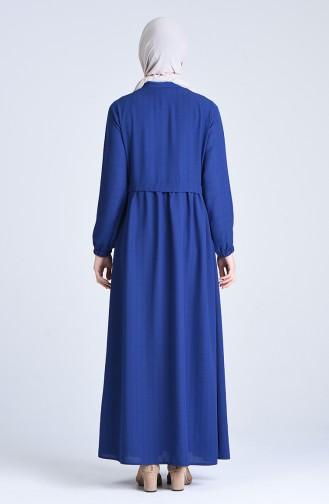 Abaya a Fermeture 6856-01 Bleu Roi 6856-01